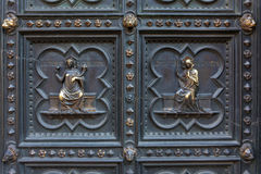 Detail Of Baptistery Bronze Door, Florence Stock Images