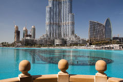 Detail Of Burj Khalifa (Burj Dubai) Royalty Free Stock Photo