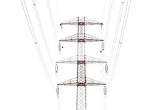 Detail Of Electricity Pylon Against Royalty Free Stock Images