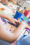 Detail Of Elementary School Art Class Royalty Free Stock Image