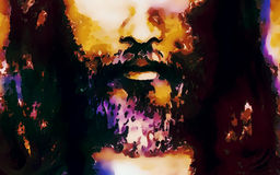 Free Detail Of Jesus Face, Abstract Colorful Collage. Stock Photography - 77554622