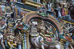 Detail Of Meenakshi Temple In Madurai, India Royalty Free Stock Photo