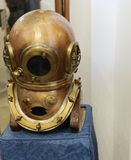 Detail Of Old Deep Sea Diver Helmet Royalty Free Stock Photo