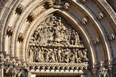 Detail Of Prague Gothic Cathedral Stock Image