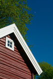 Detail Of Red Log Cabin Stock Photos