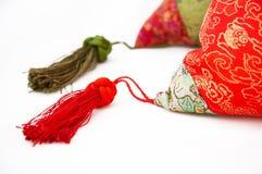 Detail Of Silk Pillow Stock Photography