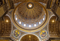 Free Detail Of St Peters Basilica Cupola In Vatican From Inside Royalty Free Stock Photo - 93788435