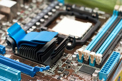 Detail Of The Computer Motherboard Royalty Free Stock Images