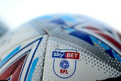 Free Detail Of The EFL Championship Match Ball With Sky BET EFL Logo Stock Image - 183819801