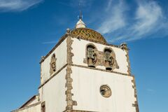 Free Detail Of The Facade And Singular Dome Of The Bell Tower With Its Arches Of The Mother Church Of Pedrogão Grande PORTUGAL Royalty Free Stock Photography - 191504407