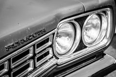 Detail Of The Mid-size Car Plymouth Satelitte Stock Photography