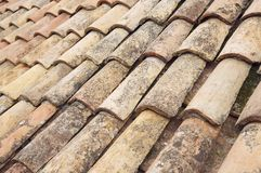 Detail Of The Old Tiles Roof In Dubrovnik Stock Photography
