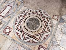Detail Of The Polychrome Opus Sectile Of The Room With The Three-light Window In The Domus Of Nymphaeum In Ostia Antica, Rome Royalty Free Stock Images