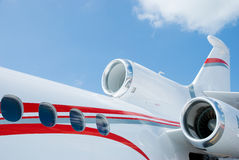 Detail Of Three Engined Corporate Jet Stock Images