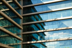 Detail of office building - glass facade Stock Image