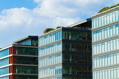 Detail of office building - glass facade Stock Photos