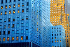 Detail of office buildings in New York Royalty Free Stock Image