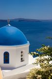 Detail of Oia church on Santorini. The Cyclades Stock Photo