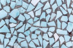Detail of an old antique mosaic. For use designed element Stock Photography
