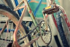 Detail old bicycle bmx Royalty Free Stock Photography