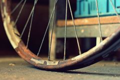Detail old bicycle with a retro effect Royalty Free Stock Images