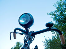 Detail of old bicycle. In the summertime Royalty Free Stock Photography