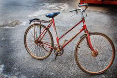 The detail of old bicycle Stock Photography