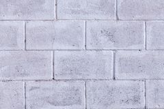 Detail of an old block wall painted white royalty free stock image
