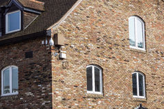 Detail of old brick building in England Royalty Free Stock Image