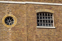 Detail of old brick building in England Stock Images
