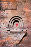 Detail of an old brick warehouse Royalty Free Stock Image