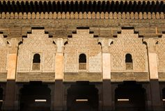 Detail of building in Ben Youssef Madrasa Royalty Free Stock Photos