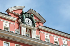 Detail of old buildings from the center of Sofia, Bulgaria Royalty Free Stock Photo