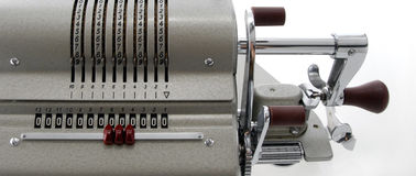 Detail of an old calculating machine Stock Photos