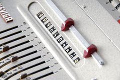 Detail of an old calculating machine Stock Photo