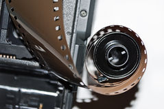 Detail of an old camera Royalty Free Stock Photos