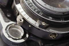 Detail of an old camera Stock Photography