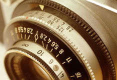 Old Camera Controls Stock Photo