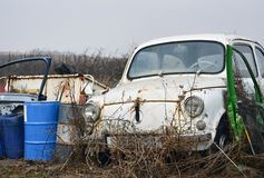 Detail of an old car Stock Photography
