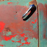 Detail. An old car that is damaged but still beautiful waiting to be driven by its owners standing in a street in Trinidad Cuba Royalty Free Stock Photography