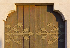 Detail of an Old Church Door Royalty Free Stock Photo