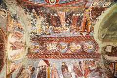 Detail of an old church. The paints of an old church in the Cappadocia region Stock Images