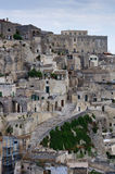 Detail of old city of Matera. A detail of the historic center of Matera with the so called Sassi houses Royalty Free Stock Images