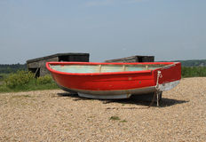 Detail of old coloured boat hulls Royalty Free Stock Photography
