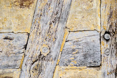 Detail of Old cracked oak timber Royalty Free Stock Images