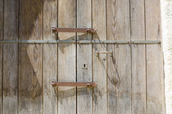 Detail old door with lock Royalty Free Stock Photos