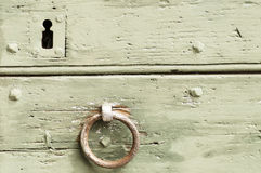 Detail of an old door and mediaval Royalty Free Stock Photography