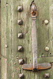 Detail of an old door and mediaval Royalty Free Stock Photos