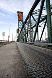 Detail of old drawbridge. In Portland, Oregon Stock Photography