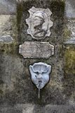 Detail of old fountain with drinking water in the old city of M stock image